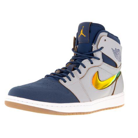 Nike Jordan Men's Air Jordan 1 Retro High Nouv /Gld Lf/Fch Bl/White Basketball Shoe