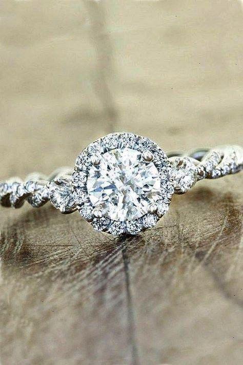 7c13228f1f182 Round Halo Vintage Diamond Engagement RingDiamond Engagement ring ...