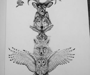 53 Totem Tattoos Pleasing Animal Totem Tattoo In 2020 Totem Tattoo Totem Pole Tattoo Animal Totems
