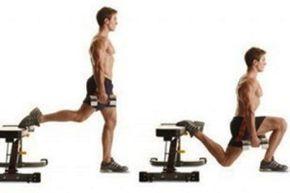 entrenamiento para piernas con mancuernas