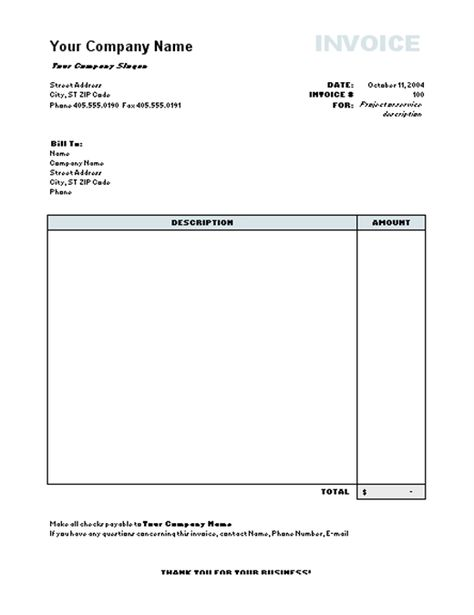 60 Invoice Template Ideas Invoice Template Invoicing Invoice Template Word