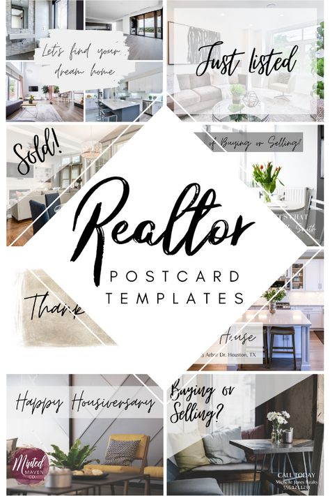 17 Modern Realtor Postcard Template Designs Front and Back - Edit in Canva