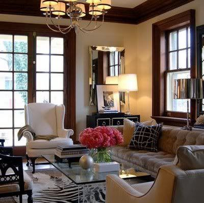 paint colors with dark wood trim7 best Dining Room images on Pinterest  Dark wood trim Living