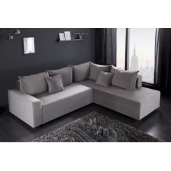 Design Ecksofa Apartment 245cm Grau Samt Federkern Sofa Schlaffunktion Riess Ambienteriess Ambiente Federkern Sofa Sofa Mit Schlaffunktion Und Haus Deko
