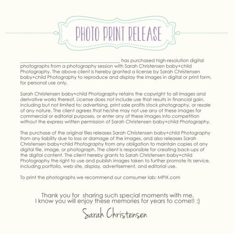 Photography Print Release  Mary Plankenhorn Photog