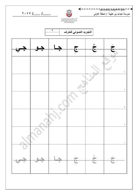 أوراق عمل حرف الجيم الصف الأول لغة عربية الفصل الأول Chart Bar Chart World Information