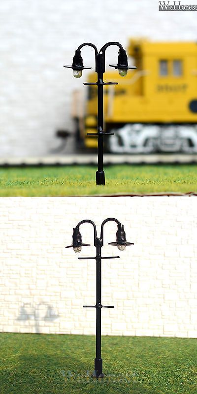 10 X Oo Ho Scale Model Train Lamps Railroad Lamp Posts 12v Street Lights 310 Ebay Railroad Lamp Train Lamp Lamp Post