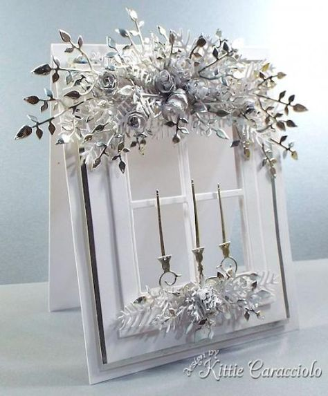 Silver and White Window Garland by kittie747 - Cards and Paper Crafts at Splitcoaststampers