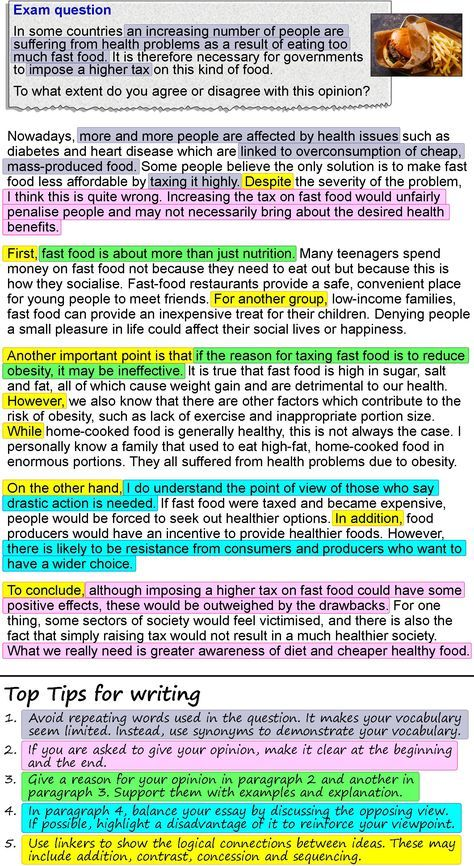 An opinion essay about fast food | ielts | Opinion essay