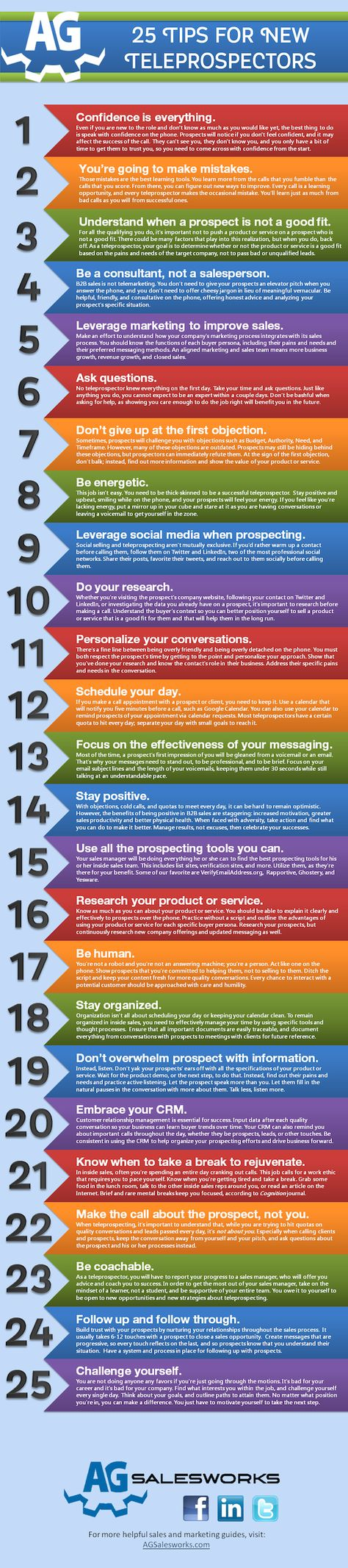 25 Phone Prospecting Tips to Crush Your Next Call [Infographic]