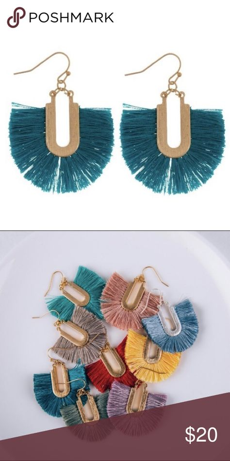 1.5 Geode Drop Earrings Blue | Claire's