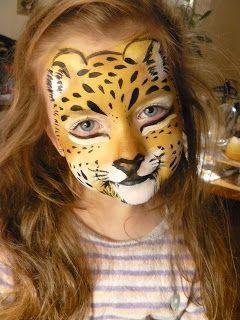 Face Painting Jaguar Pantera Tygrys Malowanie Twarzy Wzory Face Painting Halloween Cheetah Face Paint Face Painting