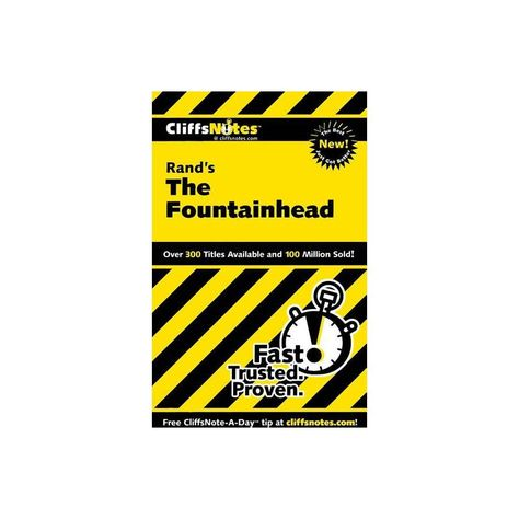 CliffsNotes on Rands The Fountainhead (Cliffsnotes Literature Guides)