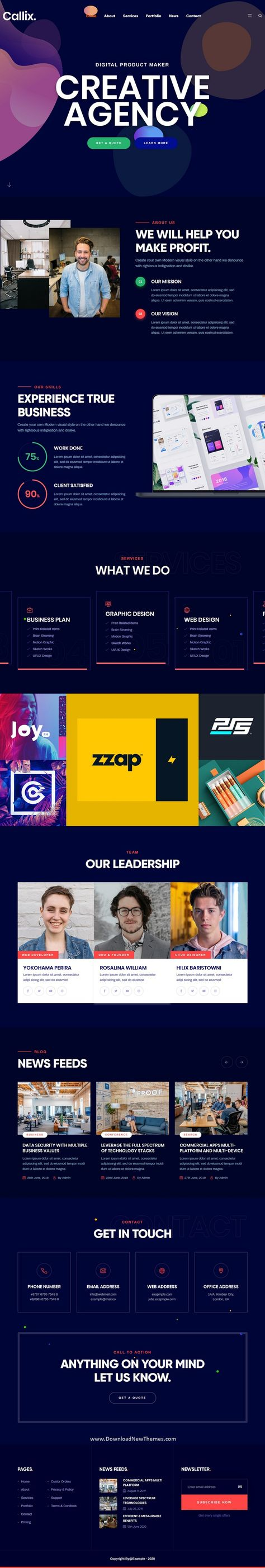 Callix - Creative Agency HTML Template