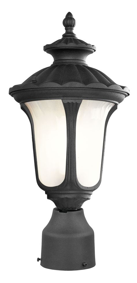 Livex Lighting 7667-04 Oxford Post Mount Black