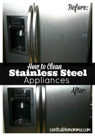 How To Clean Stainless Steel Appliances Stainless Steel Cleaning Cleaning Hacks Cleaning Stainless Steel Appliances