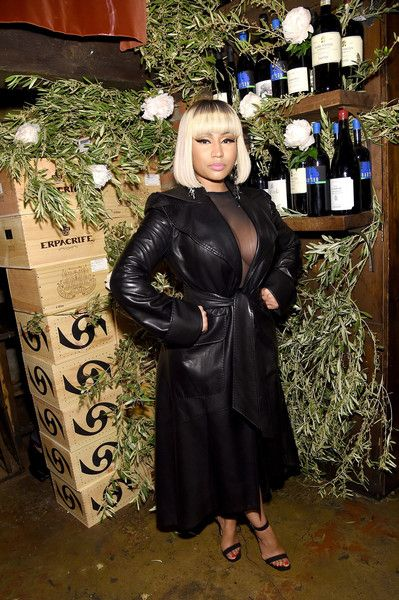 Nicki Minaj attends the ELLE x Stuart Weitzman celebration of Giovanni Morelli's debut collection for Stuart Weitzman hosted by Nina Garcia.