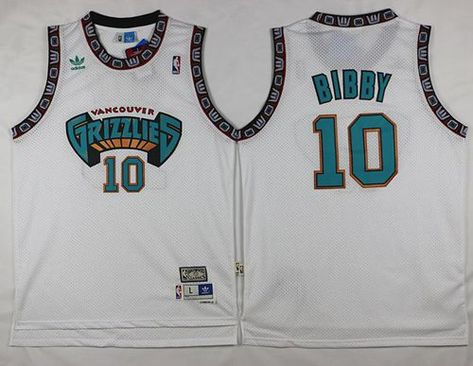 Grizzlies  10 Mike Bibby White Throwback Stitched NBA Jersey  105c11a94