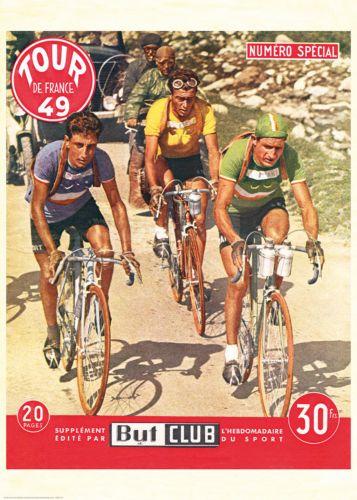 "Details about Cycling Poster Vintage French Retro ""Tour de France"" 1949 Bartali…"