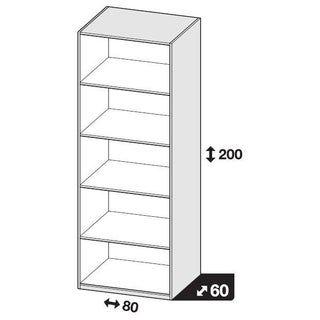 Caisson Spaceo Home Blanc H 200 X L 80 X P 60 Cm Leroy Merlin Caisson Blanc Chambre