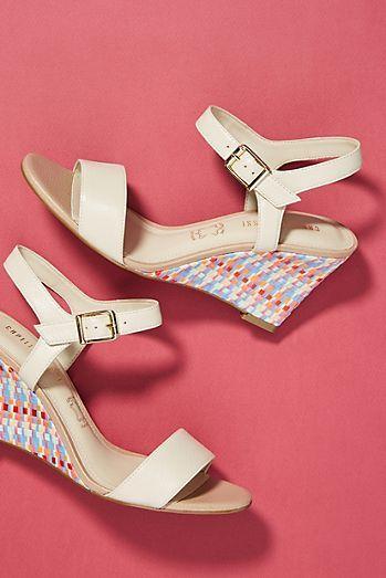 Capelli Rossi Woven Raffia Wedge Sandals | Wedge sandals