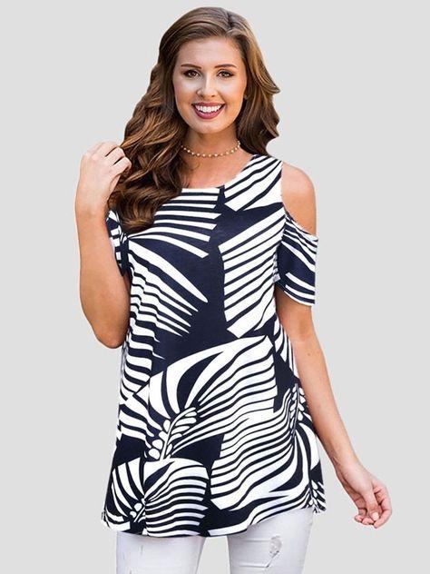 70895cc22464 Dresswel Women Summer Floral Print Cold Shoulder T-shirt Tops $13.99 # dresswel #women #fashion #sale #forsale #sales #artforsale #salento  #supremeforsale ...