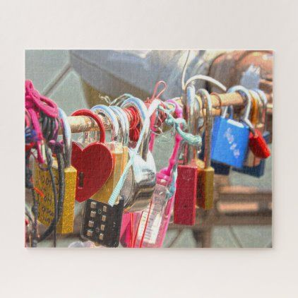 Christmas Eve 2020 Brooklyn Love Locks Brooklyn Bridge New York. Jigsaw Puzzle | Zazzle.in
