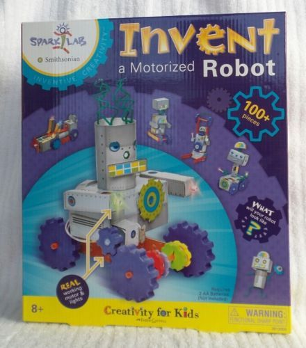 """Invent a Motorized Robot Creativity For Kids Spark!Lab Smithsonian /""""Invent"""