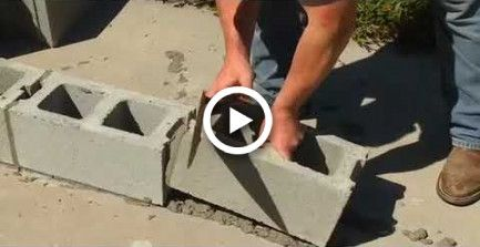 How To Build The House By Using Concrete Block Lay Block Foundation High Profits Low Cost House Di Concrete Block Foundation Concrete Blocks House Foundation