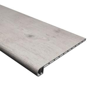 Cali Vinyl Pro Classic Gray Ash 1 In T X 11 1 2 In W X 48 5 16 In L Vinyl Stair Tread 7914007017 The Home Depot In 2020 Vinyl Stair Treads Laminate Stairs Stair Treads