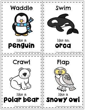 Preschool Themes, Preschool Lessons, Polar Animals Preschool Crafts, Preschool Movement Activities, Animal Activities For Kids, Winter Activities For Preschoolers, Preschool Songs, Preschool Learning, Artic Animals
