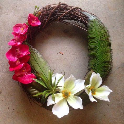 Wreath   20 Tropical Decor Ideas To Make Every Day Feel Like An Island Vacation   Bustle