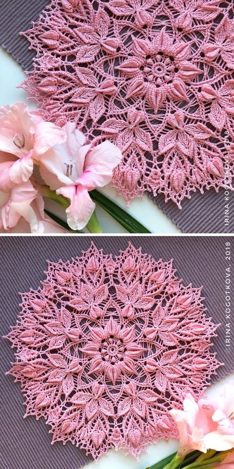 Did you know that doilies have a long history that goes back to London? Free Crochet Doily Patterns, Crochet Art, Lace Patterns, Thread Crochet, Crochet Motif, Crochet Designs, Crochet Crafts, Crochet Projects, Knitting Patterns