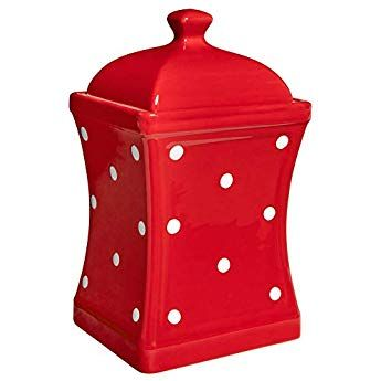 City To Cottage Red And White Polka Dot Spotty Handmade Hand