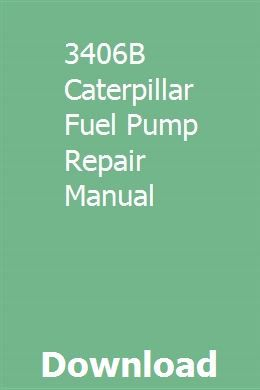 3406B Caterpillar Fuel Pump Repair Manual | freetledusi