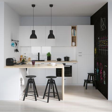 Osez la décoration noir et blanc pour votre cuisine