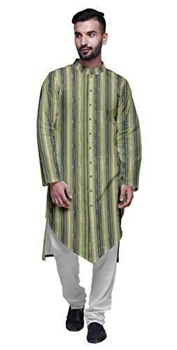 SKAVIJ Hommes Tunique Kurta Pyjama Indien Ethnique Porter