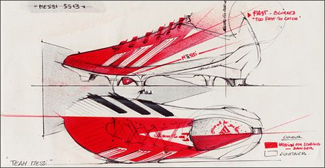 Lionel Messi's F50 boots sketch, #adidas #football #boots