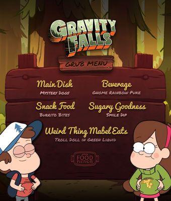 Food Fiction Gravity Falls Invitaciones De Cumpleaños