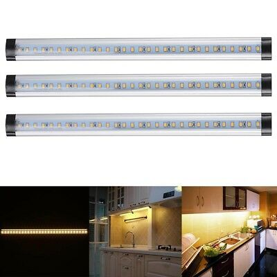 Details About 3pcs Kitchen Under Cabinet Shelf Counter Led Light Bar 1440lm Lighting Kit Lamp Outdoor Solar Lights Under Cabinet Lighting Garage Lighting