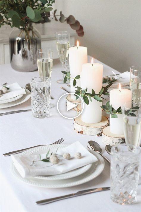 Minimaliste Festive Decoration De Table Pour Noel