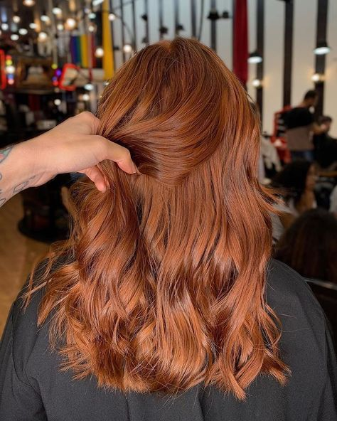 Pink-Red with Yellow Highlights - 20 Cool Styles with Bright Red Hair Color (Updated for - The Trending Hairstyle Hair Color Auburn, Auburn Hair, Red Hair Color, Long Red Hair, Super Long Hair, Dark Hair, Natural Red Hair, Red Hair Inspiration, Ginger Hair Color