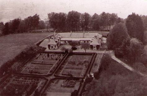 Boleskine house and formal gardens (looking toward the lake from the hill), from