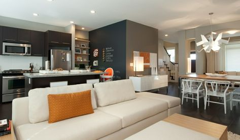 arredare open space cucina soggiorno idee con mobili della ...