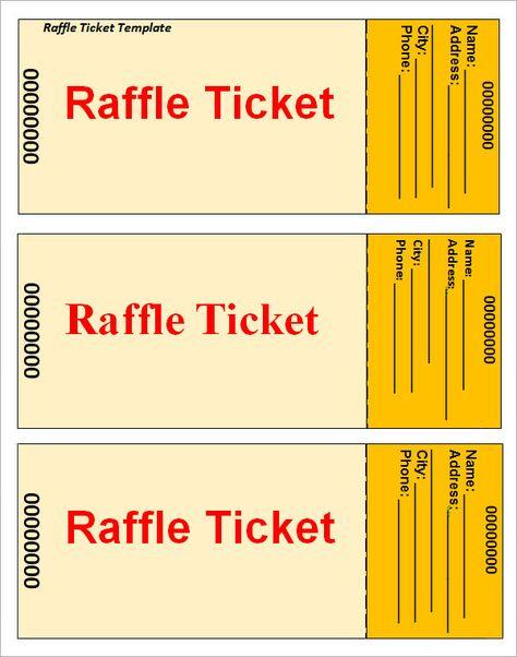Raffle-Ticket-Template u2026 Pinteresu2026 - event tickets template word
