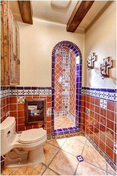 Different Designs For Your Floor Using Ceramics Spanish Style Bathrooms Mexican Tile Bathroom Spanish Style Homes