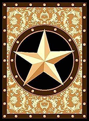 Amazon Com Furnish My Place Texas Western Star Rustic Cowboy Decor Area Rug 40 L Gold Brown Black Cowboy Decorations Yellow Area Rugs Rustic Cowboy Decor