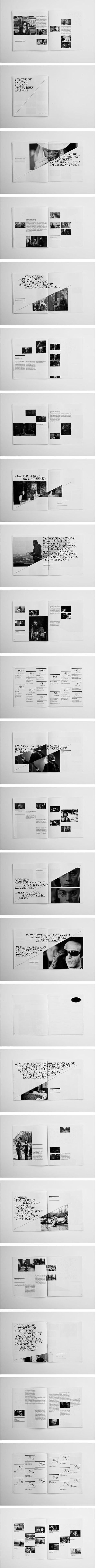Book Spread Grid Layout Design Graphic Typography Photography Diagonal