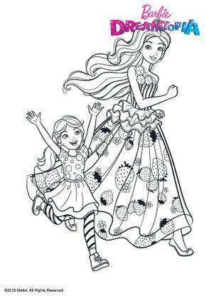 Coloriage Princesse Barbie