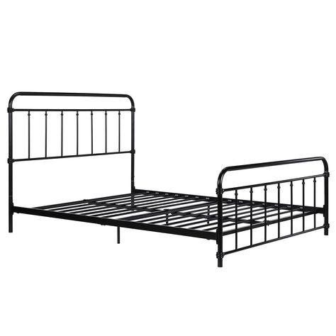 Dhp Wallace Metal Bed Black Full Bed Headboard